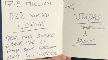 scottish tory mp sent 'traitor' christmas card over brexit