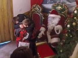 Brothers get Christmas wish when serviceman dad appears