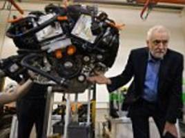 jeremy corbyn visits aston martin factory to woo business