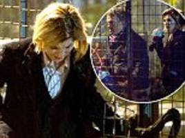 Jodie Whittaker pictured filming Doctor Who