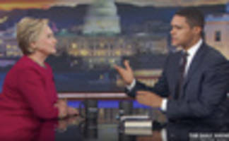 video: hillary clinton addresses trump dossier & russian cyber warfare on daily show