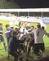 leeds united game abandoned after mass brawl erupts on pitch