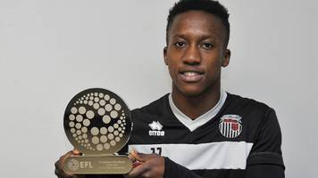 Siriki Dembele: Grimsby Town striker wins EFL Young Player of the Month award