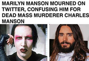 Maryiln Manson Was Mourned On Twitter By People Who Thought He Was Charles Manson