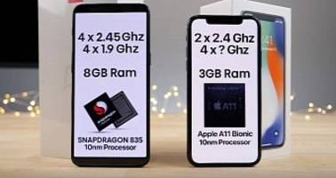 iPhone X vs. OnePlus 5T Speed Test Is Bad News for Apple Users - Video