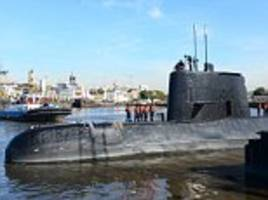 fears an explosion downed missing argentina submarine