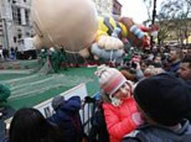 The Latest: Macy's Thanksgiving Day parade steps off
