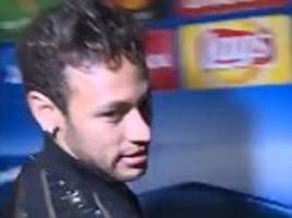 psg star neymar storms away after real madrid questions