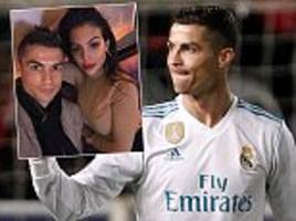 real madrid star cristiano ronaldo poses with girlfriend