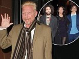 boris becker with wife lilly and sons at c london
