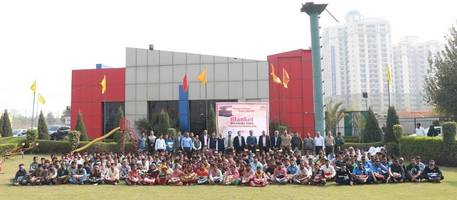 eros group distributes blankets in greater noida