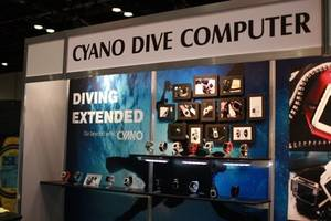 innovative wristwatch-style dive computer, 'cyano', attended at dema show 2017 held in orlando, florida