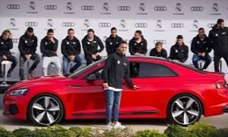 real madrid football players get new company cars from audi