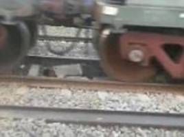 deoria man is run over by a heavy goods train but survives