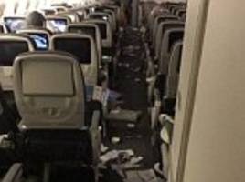 plane carrying 199 people in chaos after severe turbulence
