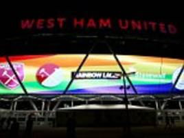 west ham launch premier league's rainbow laces campaign