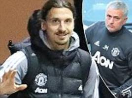 zlatan ibrahimovic waves as man united arrive at the lowry