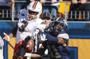 undefeated no more: no. 2 miami upset by pitt in regular season finale
