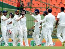 sri lanka are 151 for 4 at tea on the opening day of the second cricket test against india in nagpur today