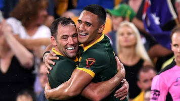 Holmes scores World Cup record six tries as Australia thrash Fiji to reach final