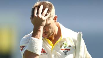 Ashes: David Warner's odd dismissal as Australia struggle early on against England