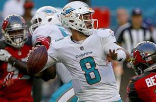 jay cutler ruled out for sunday, matt moore to start for dolphins against patriots