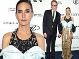 jennifer connelly in louis vuitton gown with paul bettany