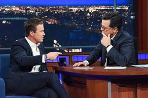Billy Bush Tells Stephen Colbert Why He Spoke Out Against Trump in NYT: 'Enough's Enough' (Video)