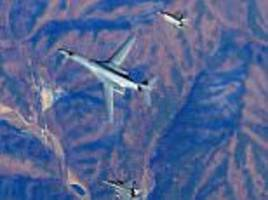 us bomber takes part in warplane exercise over south korea