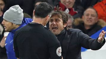 Chelsea boss Conte fined £8,000 for sending-off