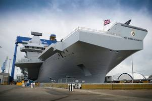 Queen to launch HMS Queen Elizabeth aircraft carrier – made possible by a Gloucestershire business