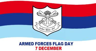 Armed Forces Flag Day observed today