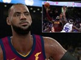 28658b6253a LeBron James using NBA 2K18 for Cleveland Cavaliers test
