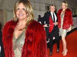 penny lancaster, 42, and rod stewart, 72, look glamorous