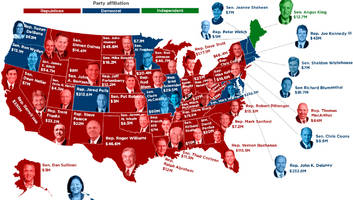 this map shows you the richest politician in every state