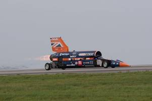 date confirmed for bloodhound supersonic car's 500mph tests