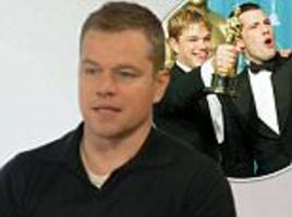 matt damon reflects on being rejected in hollywood