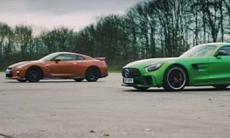 mercedes-amg gt r vs. nissan gt-r is an odd drag race