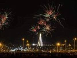 new year's eve fireworks in mosul after isis defeat
