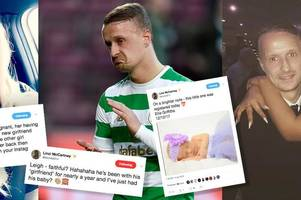 'what a tadger' furious ex-lover of celtic ace leigh griffiths claims he cheated on partner after she gives birth to his fifth child