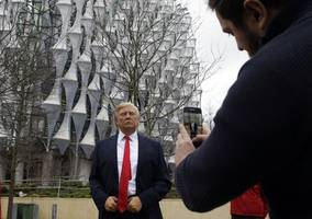 Donald Trump Spotted Outside London Embassy He Claims To Hate
