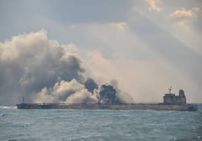 Burning Iranian oil tanker finally sinks after Jan. 6 accident