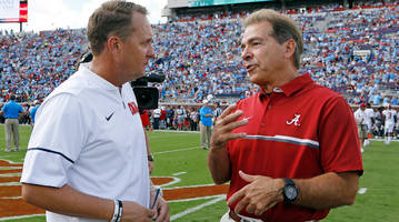 hugh freeze's meeting with nick saban wasn't solely about alabama's open oc job