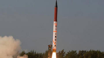 india successfully test-fired indigenously developed agni-5