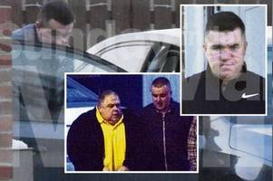fat controller's empire has another brush with notorious daniel crime clan as mutilated boss 'bonzo' pays a visit