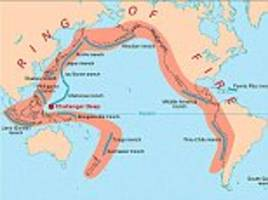 ring of fire earthquakes and eruptions 'not connected'