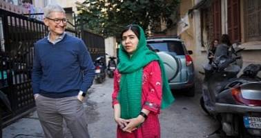 apple, nobel peace prize winner malala yousafzai join forces for girls education