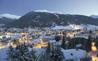 we went skiing in davos during the world economic forum