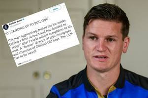 bath rugby star freddie burns says he was 'aggressively trolled' by high-profile mortgage executive