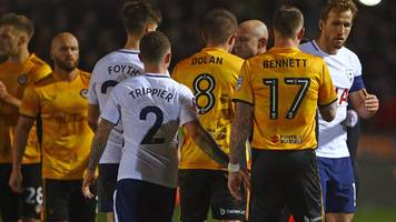 newport county: spurs win would be biggest in club's history